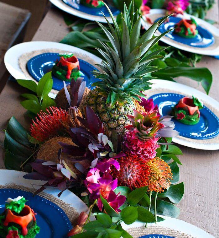 Indoor Summer 'Garden' Party - Image From karaspartyideas.com