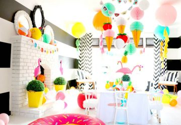 Indoor Summer 'Garden' Party - Image From www.lenzo.com.au - Photo By Tiny Little Pads