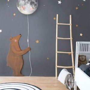 Kids room with creative mural design