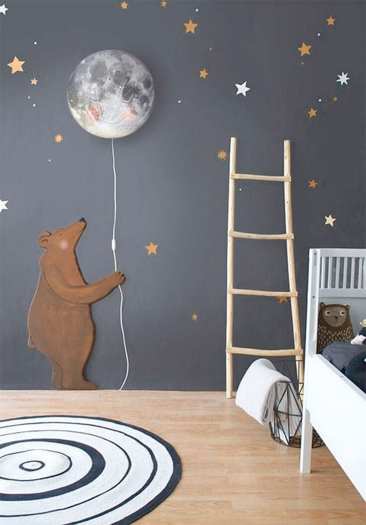 Kids Room With Creative Mural Design ...