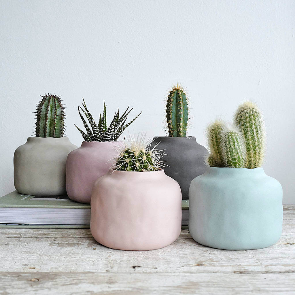 Autumn 2017 Trend Watch:  Muted Colours - Five Muted Pastel Vase Pots - From NotOnTheHighSteet.com