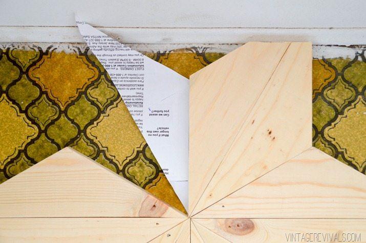 Geometric wooden floor tile design