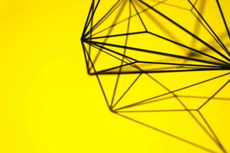 Yellow geometric accessory pattern