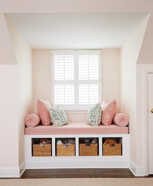 Clutter-Free Forever - Nook - Built-In Window Seat With Storage - By Amie Corley Interiors