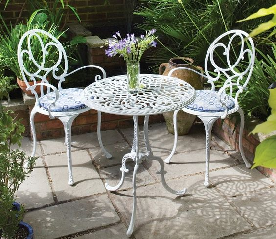 Tips On How To Build A Summer Garden - Bistro Table And Chairs