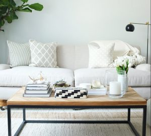 Decorating A Small Starter Home: Top Tips - Lounge - Image From TheEveryGirl.com