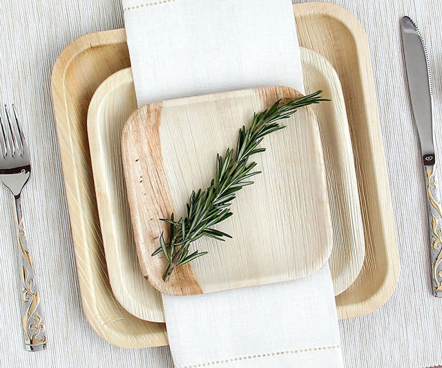 The Party's Over! The Top Dinner Party Clean up Tips - Palm Leaf Biodegradable Plates