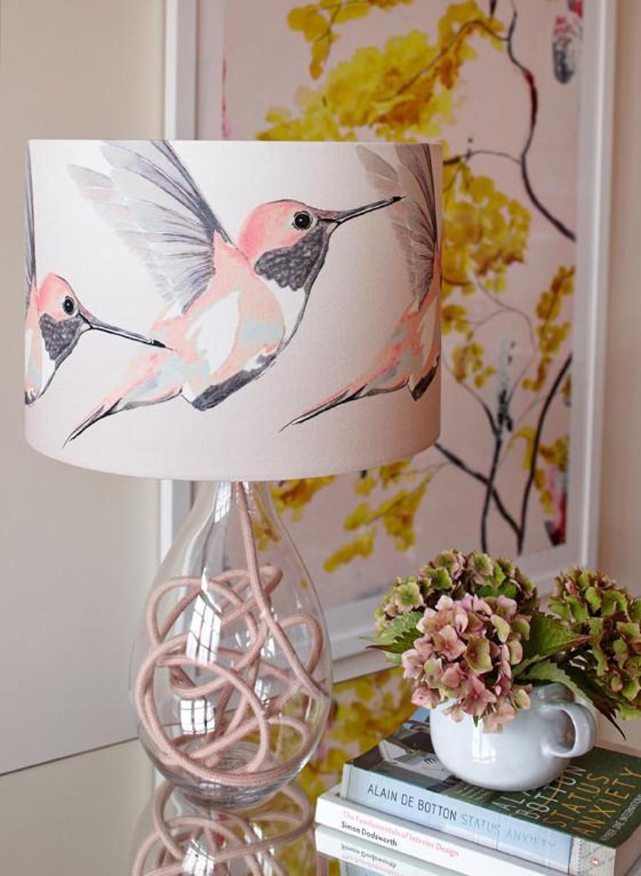 Blush pink lamp
