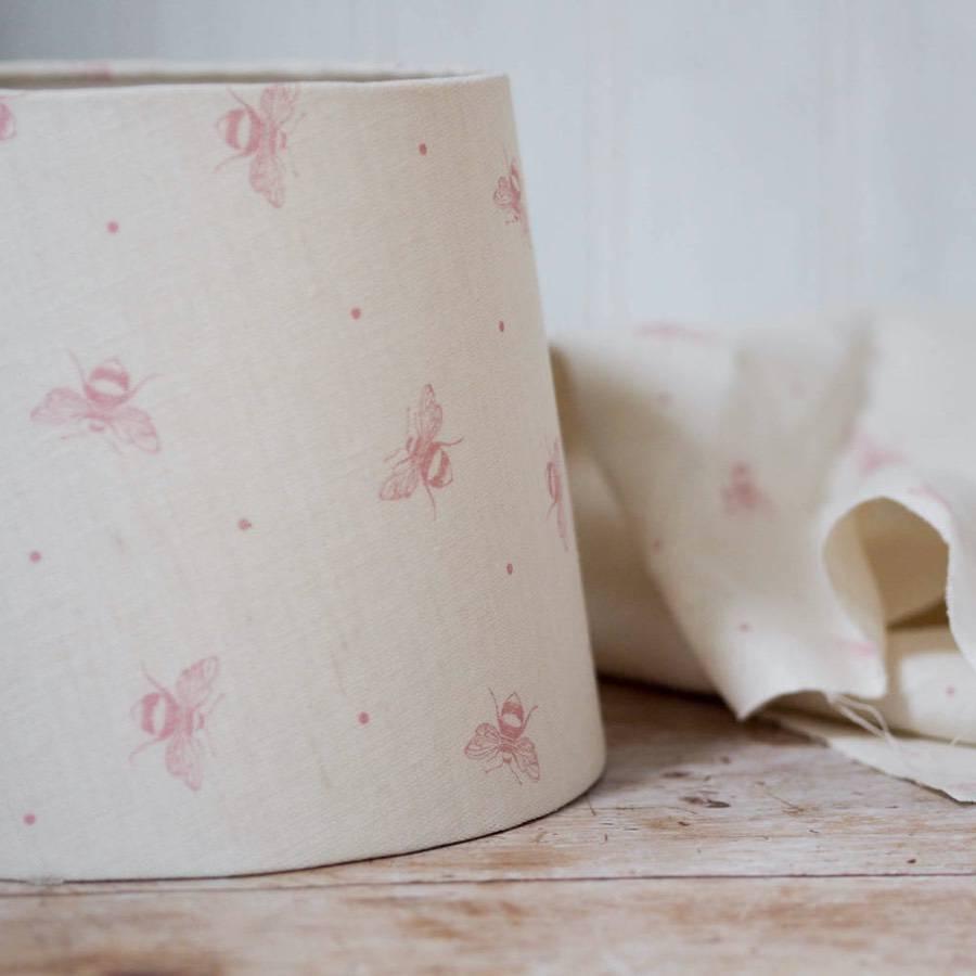 blush pink lampshade