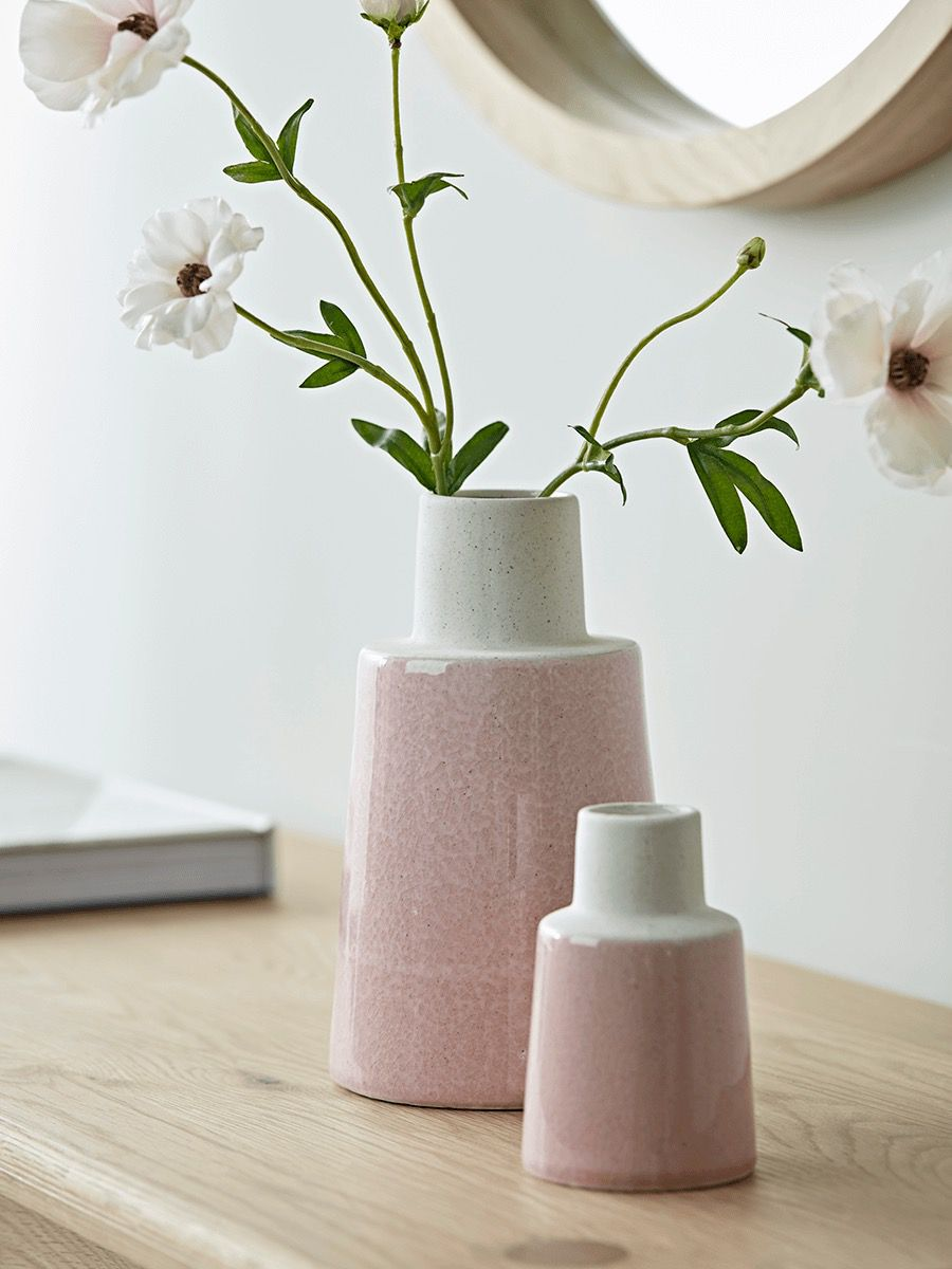Blush pink vases