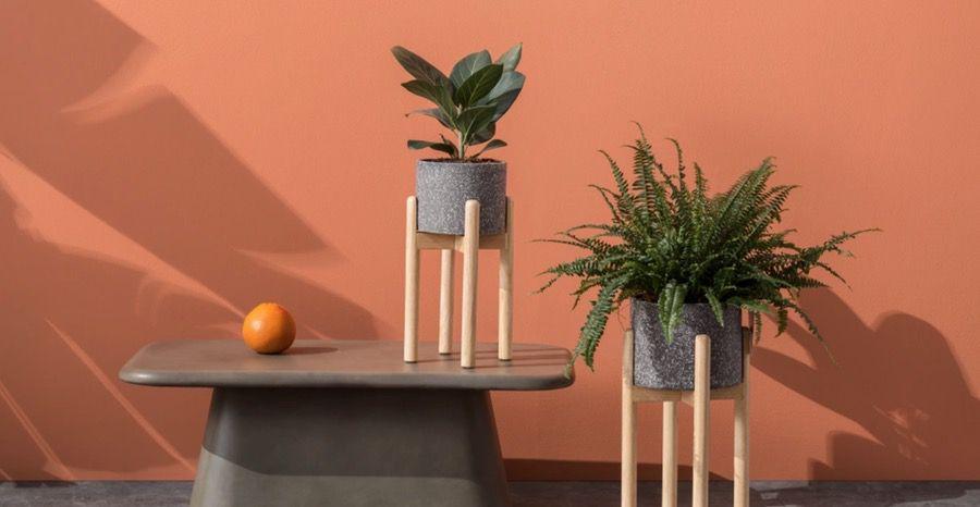 terrazzo plant holders