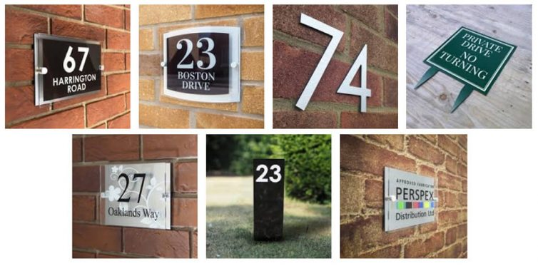 Aluminium house signs