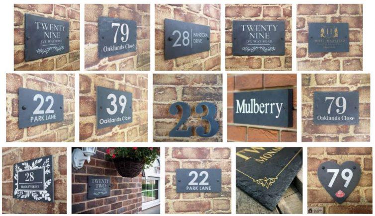 Slate house signs