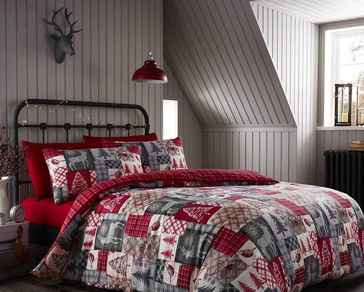 Christmas patchwork bedding