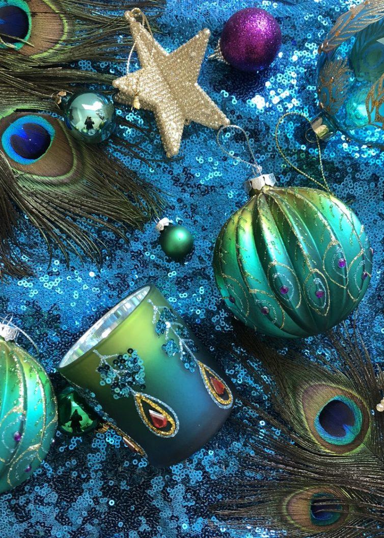 Colourful christmas ornaments