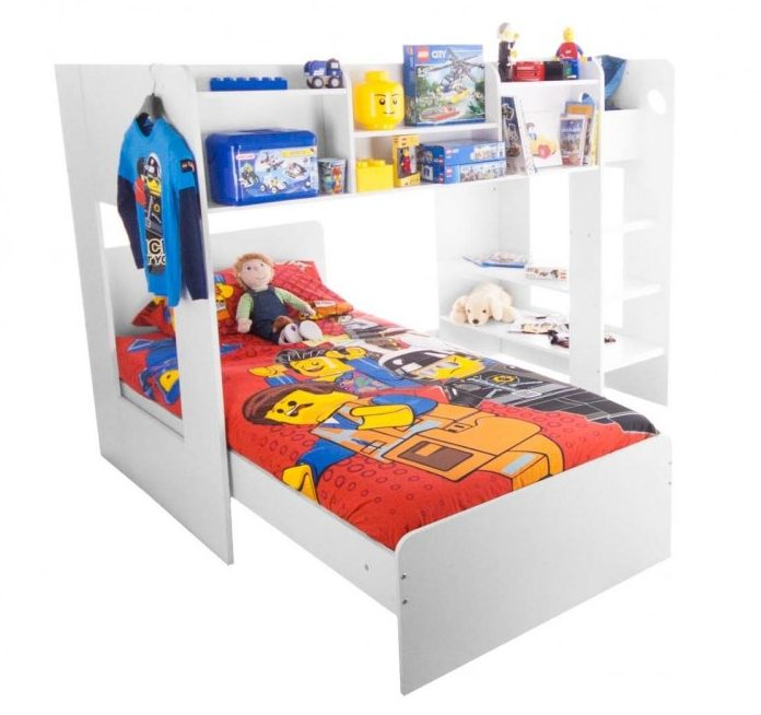 "Space Saving Storage Solutions For Kids' Rooms - Image Via BedKingdom.co.uk The Flair Furnishings ""Wizard"" bunk bed"