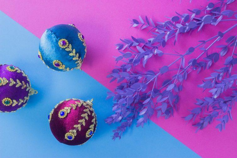 Velvet Christmas Baubles