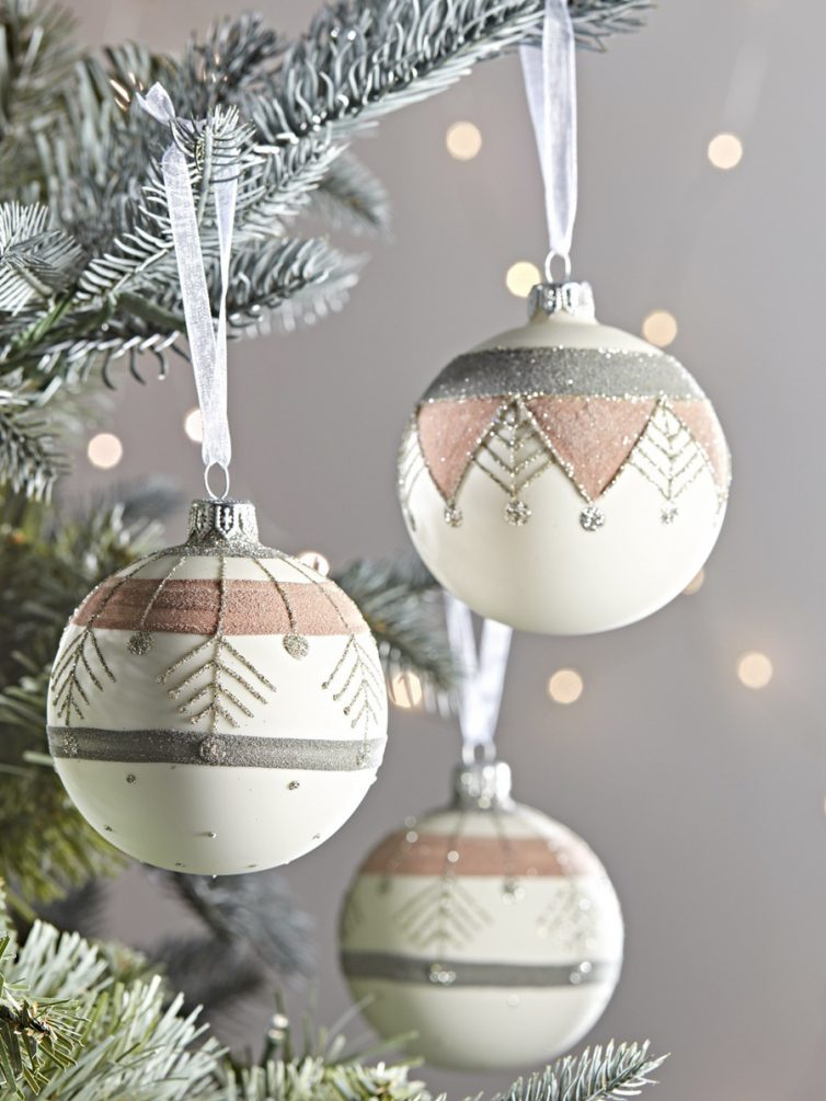 Ikat Christmas Baubles