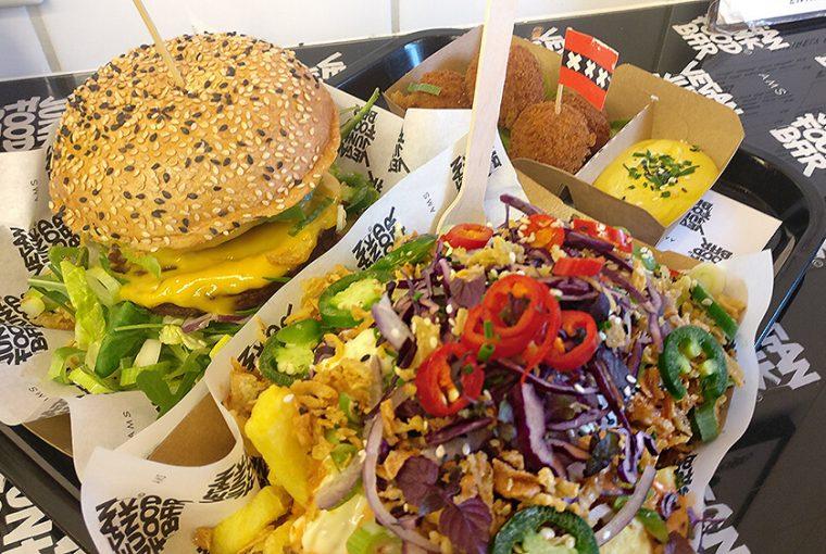 A European Travel Guide For Vegan Foodies - Vegan Junk Food Bar Amsterdam - Burger, Overloaded Fries, Bitterballen – Image © CSW