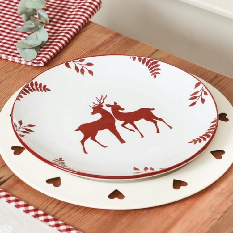 Nordic style reindeer plates