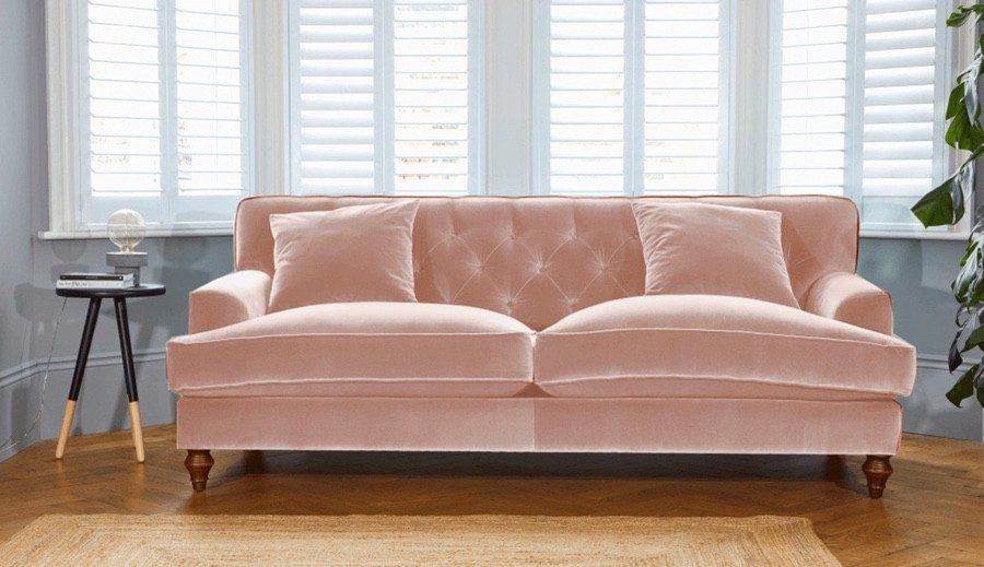 Darlings of Chelsea Pastel Pink Sofa