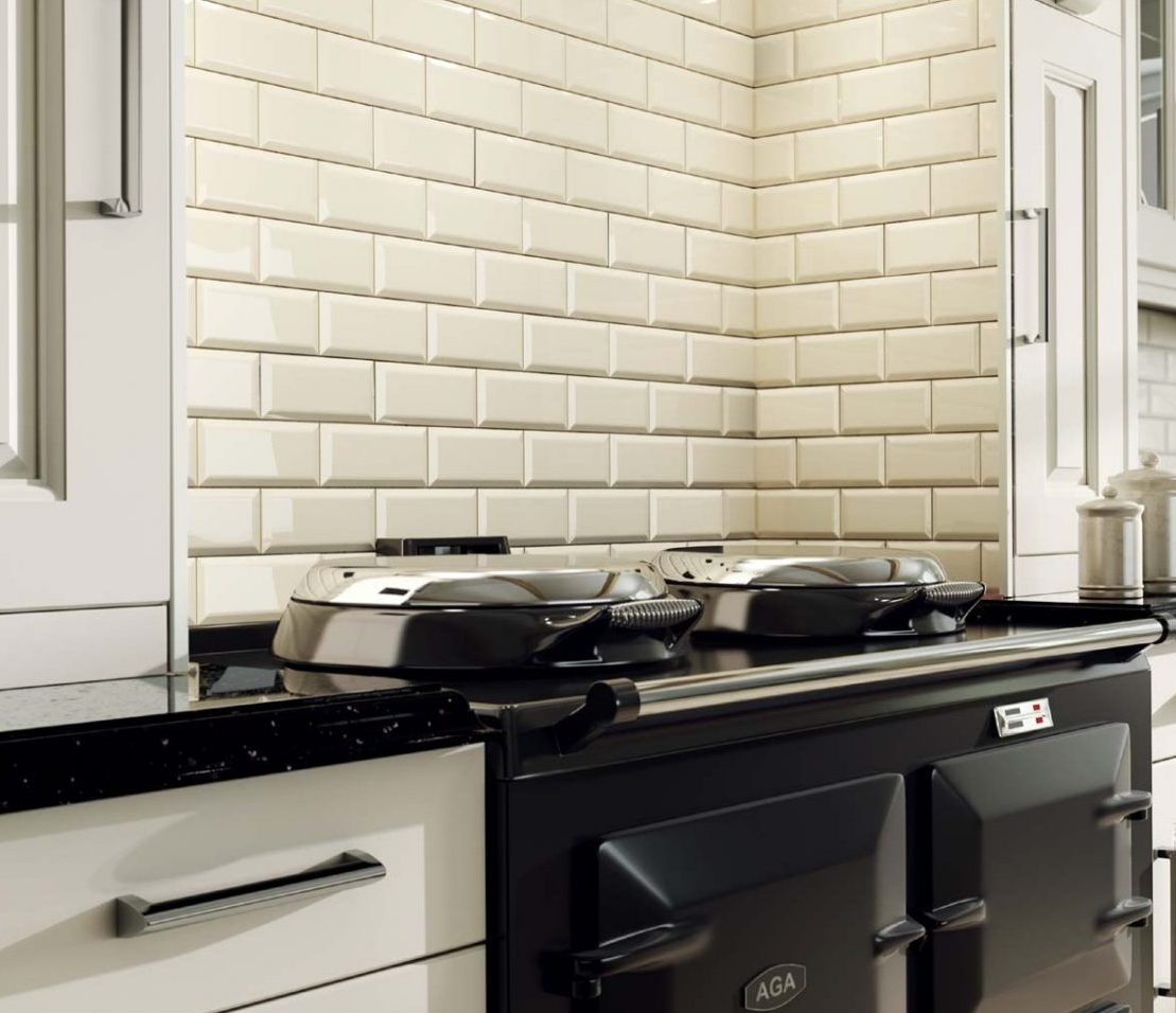 How To Transform Your Kitchen With A Creative Tile Back-Splash - Metro Tiles - Image Via CrownTiles.co.uk