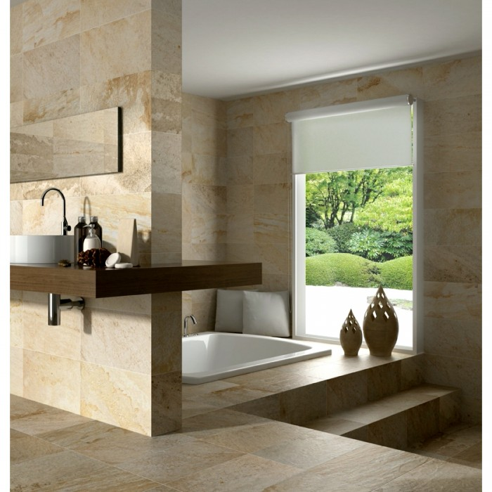 Bring The Outdoors Indoors With Natural-Finish Tiles - Stone Tiles - Image From CrownTiles.co.uk