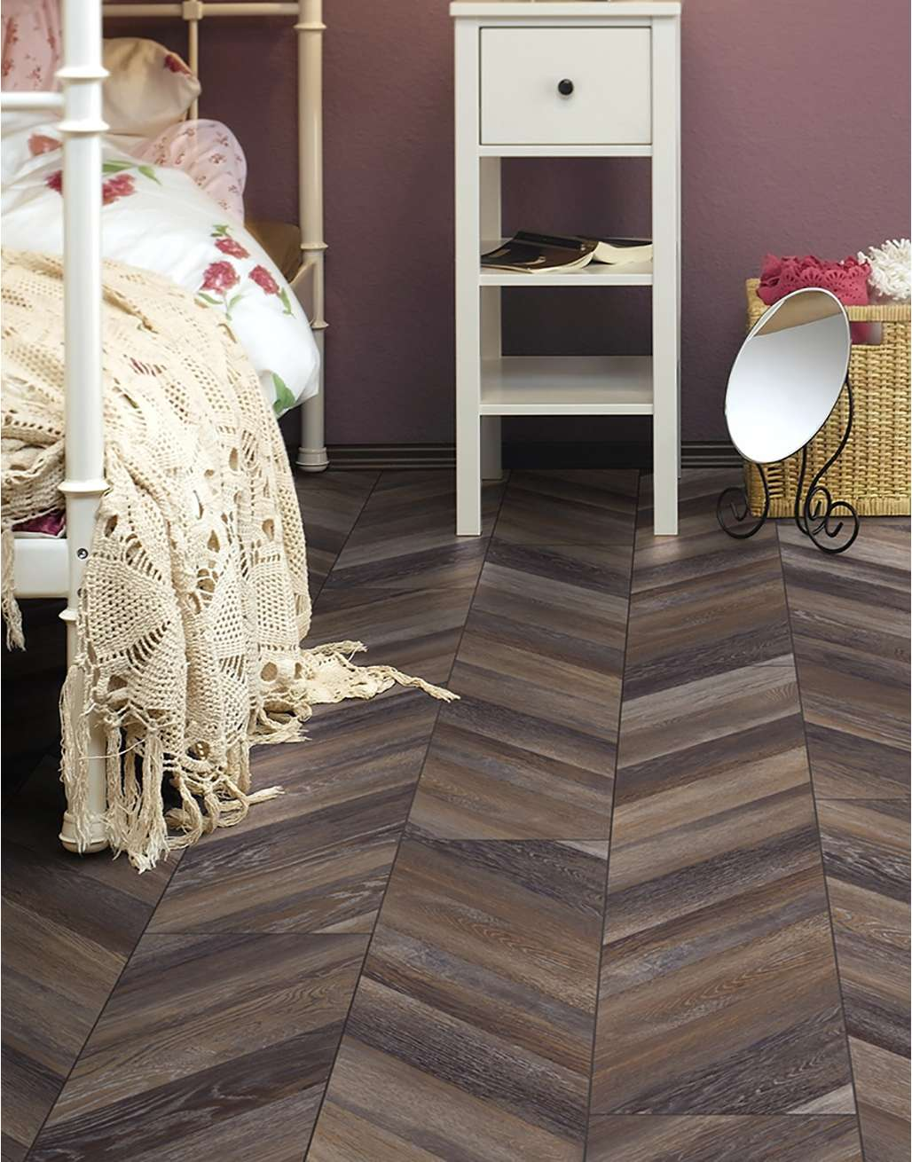 Inspiration:  Using herringbone In Your Home - Image Via directwoodflooring.co.uk