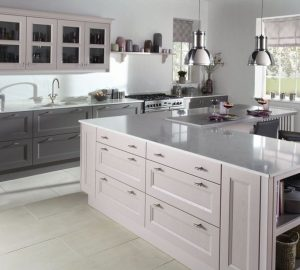 Dusk pink kitchen from burbidge.co.uk