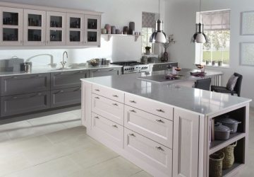 Dusk pink kitchen from burbidge.co.uk