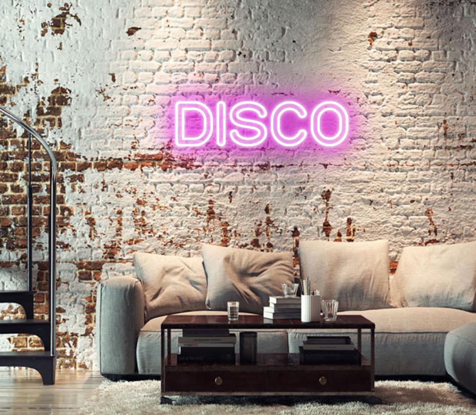 Neon Disco Sign - Image Via CustomNeon.co.uk