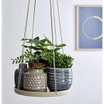 Quirky Vases And Pretty Planters - Bloomingville Hanging Flowerpot Tray - BeauMonde.co.uk