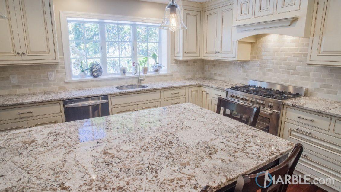 Countertop Estimator; Crucial To Making The Right Countertop Choice - Bianco Antico Kitchen Granite - Image Via Marble.com