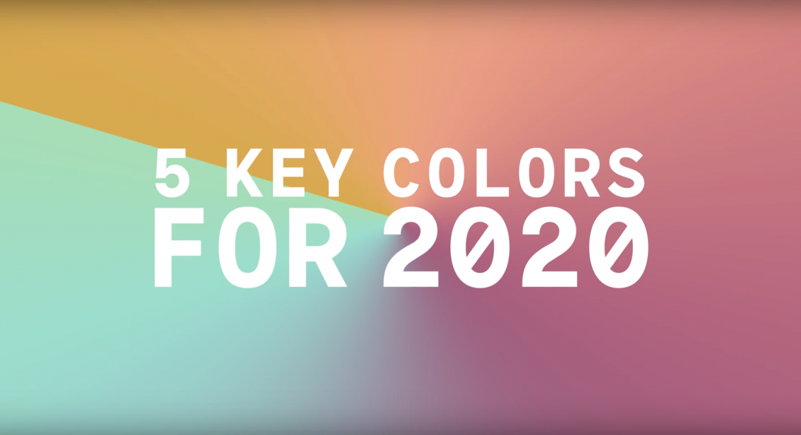 Summer 2020 Colors.Five Key Colours For Spring Summer 2020
