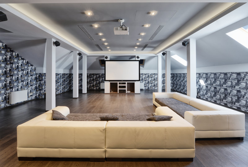 Loft, Attic, Cinema Room, Movie Room