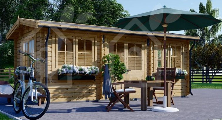 Log Cabin, Garden Office - Image Vai Quick-Garden.co.uk