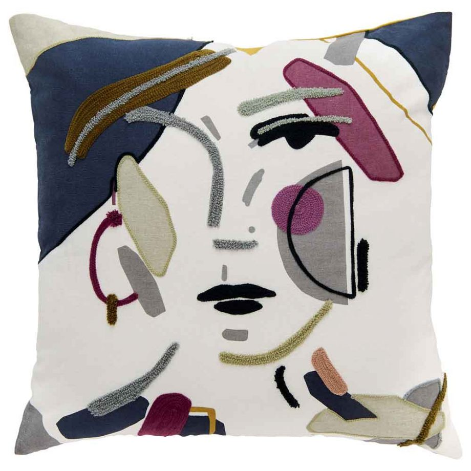 Nina Embroidered Cushion - Image Via Marks & Spencer