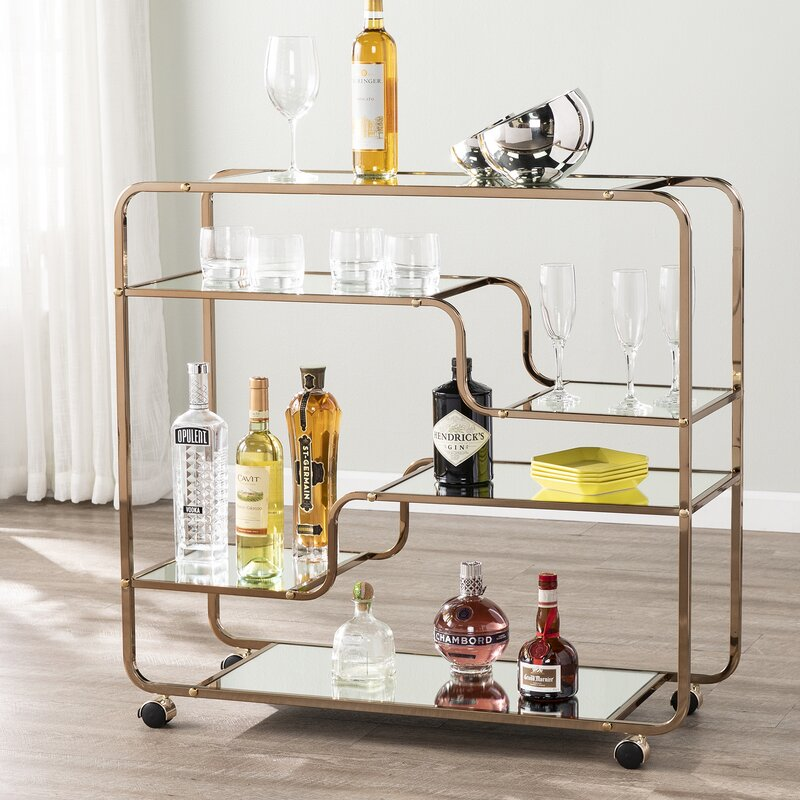 Oceanside Serving Cart By Corrigan Studio - Image Via Wayfair.co.uk