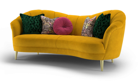 Perle In Plush Turmeric - Image Via Sofology.co.uk