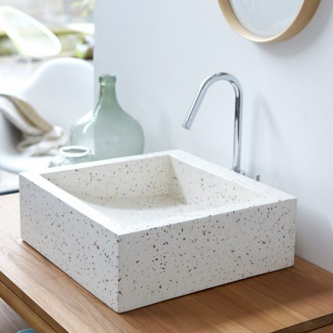 Pegase Terrazzo Washbasin - Image Tikamoon.co.uk