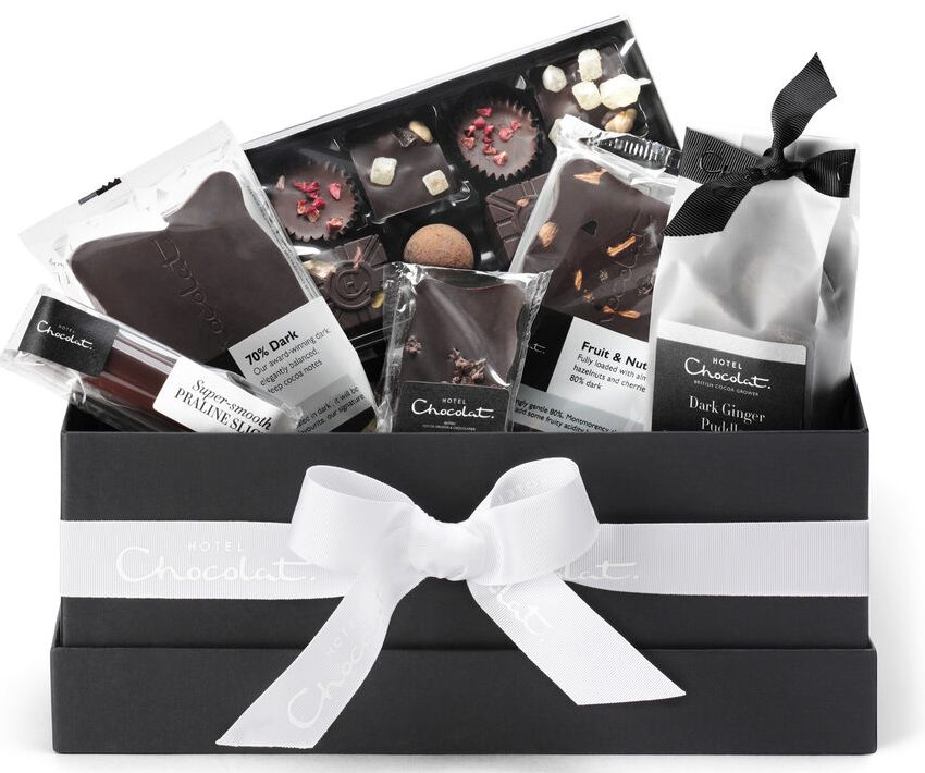 The All Dark Vegan Chocolate Hamper Collection - HotelChocolate.com
