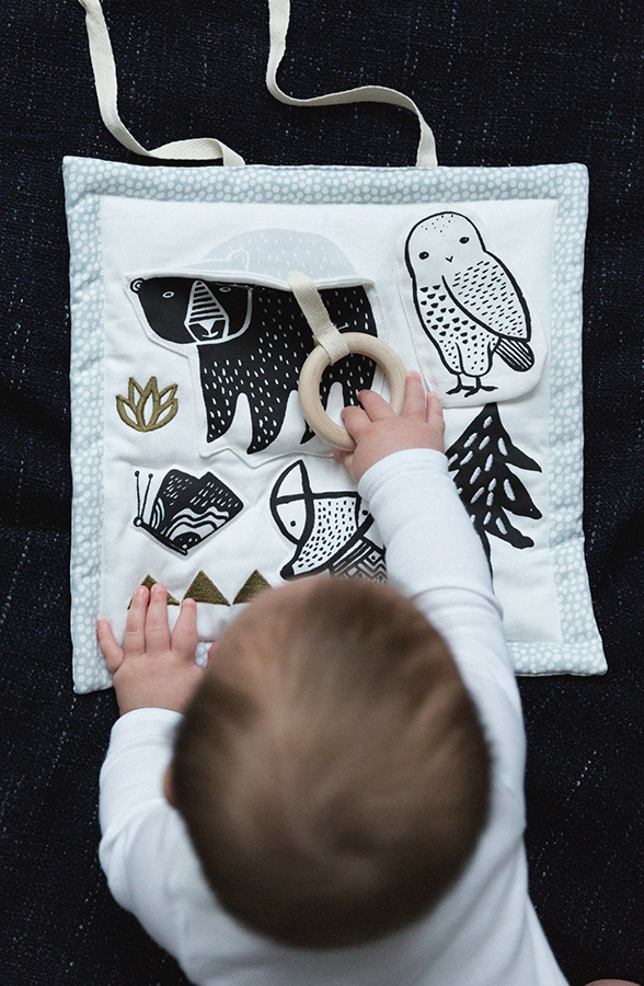 Wee Gallery Woodland Activity Pad - made from organic material
