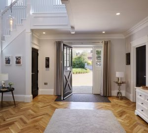 Hallway with high skirting boards