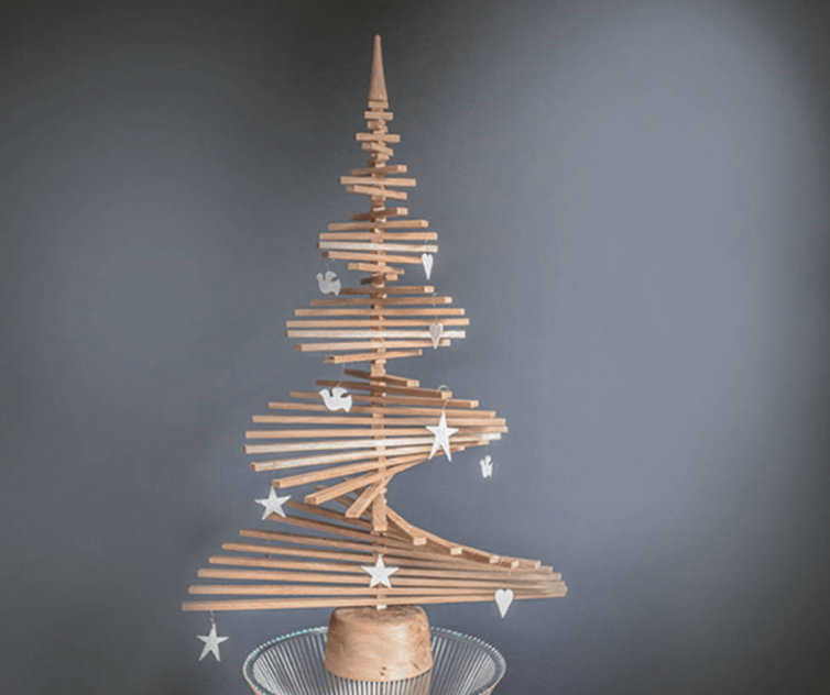 Alternative Oak Christmas Tree by NATURAL WOOD COMPANY - Image Via NotOnTheHighStreet.com