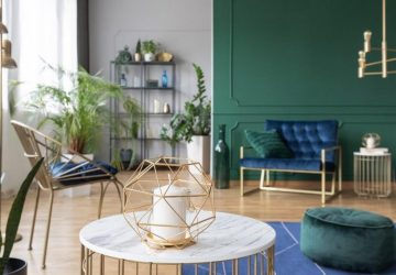 Green and blue lounge