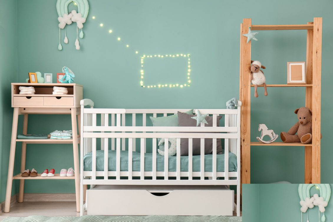 Child's bedroom with cot