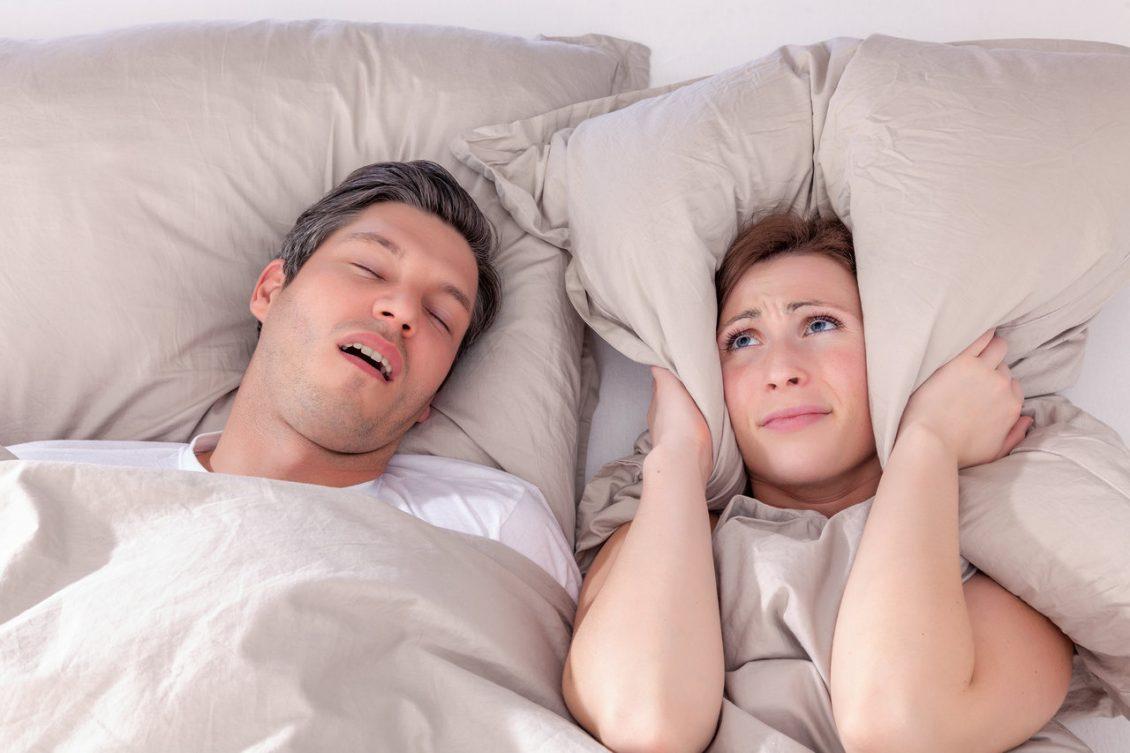 Man Snoring Keeping Women Awake