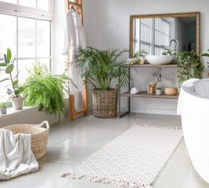 Luxury Bathroom With Plants
