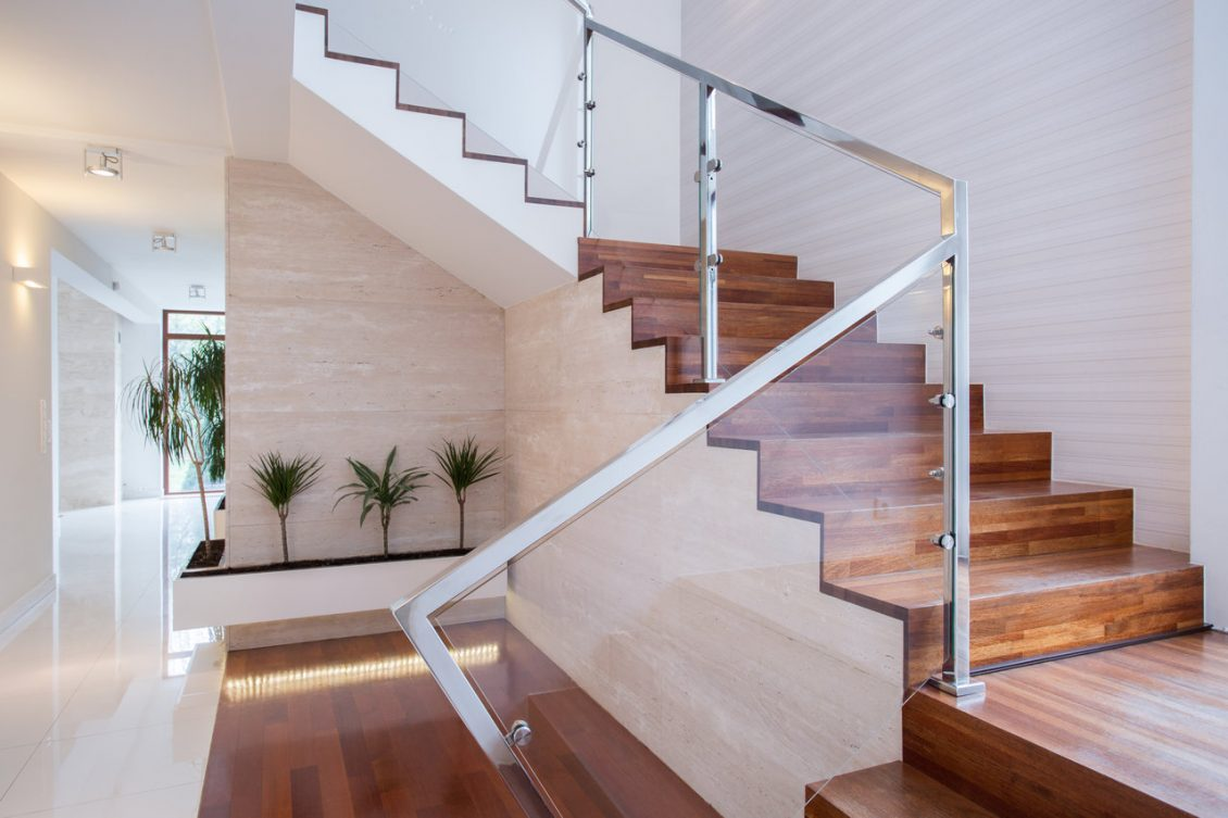 Framed Glass Balustrades On Straircase