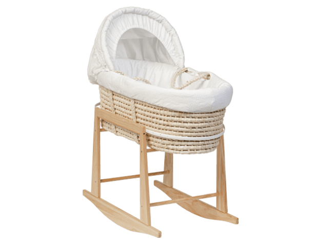 Classic Wicker Moses Basket By Mokee